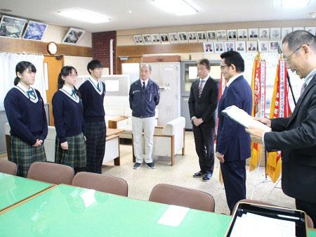 第8回「命の大切さを学ぶ教室 滋賀県作文コンクール」高校生の部 表彰